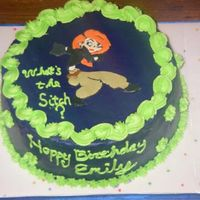 Kim Possible Birthday Cake Practice cake for run-in transfer right on top of the cake. Needs lots more practice. This was a dummy.
