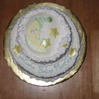 Tricia's Baby Shower Cake Top Top view of the baby shower cake. Did a FBCT of the invitation. This picture makes it look great, but I think from now on i'll stick...
