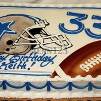 Dallas Cowboys Buttercream and airbrush