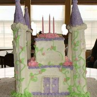 Princess Makayla's Castle Cake This was a first for my niece Jackie and I for my Great Niece Makayla's 3rd birthday party. Thanks for looking...Tom