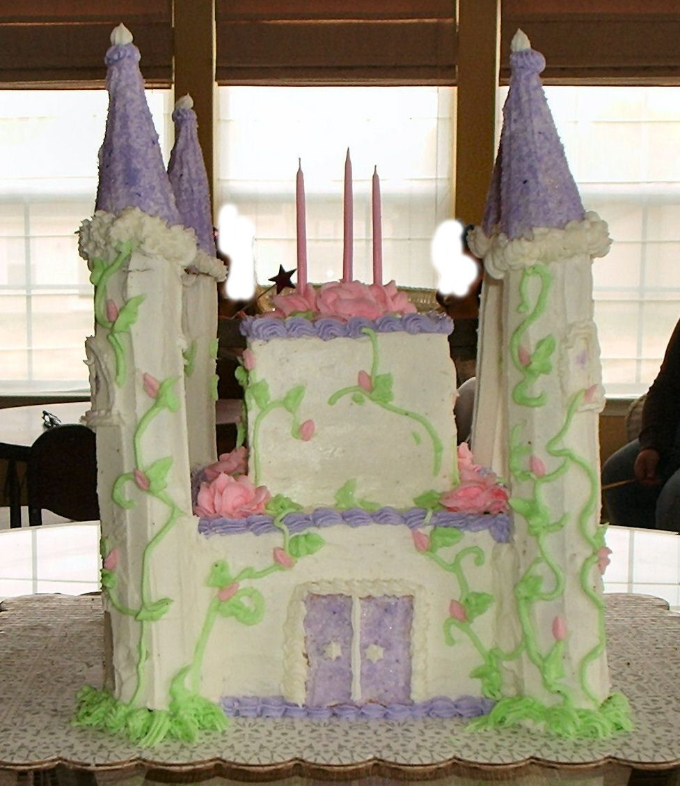 Princess Makayla's Castle Cake This was a first for my neice Jackie and I for my Great Niece Makayla's 3rd Birthday party. It was a big hit. Thanks for looking, Tom...