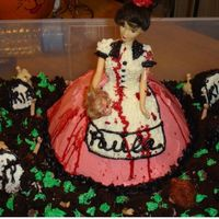 Psycho Barbie My friend wanted something really gory for her Birthday/Halloween party. Since she was dressing up in a 50's soda shop outfit I...