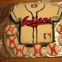 Cleveland Indians Jersey Cake I made this cake for my nephew because he loves the Indians. Inspired by HomanSweets cake. Thanks to debsuewoo and Jenn123 for helping me...