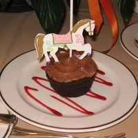 Carousel Cupcakes  Make individually cut out horses from pastillage (a sugar paste that dries rock hard) and attached them to lollipop sticks and decorated...