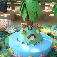 Luau Cake This cake was for a two year old, who had a luau party and a petting zoo.