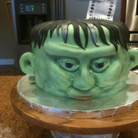 Frankenstein's Monster WASC with BC and fondant. Had a fun time with the old airbrush on this one! :-)