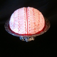 Brain Food... White cake with buttercream and fondant.