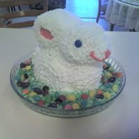 Easter Buuny Chocolate pound cake with vanilla buttercream icing. I used the Wilton 3D bunny pan.