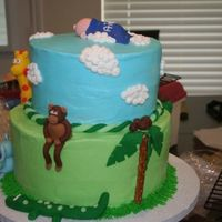 Jungle Baby Shower Cake just another view showing a tree