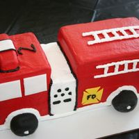 3-D Fire Truck My first try at a 3-D cake. It was actually pretty easy! Not perfect but good enough for my little guy on his birthday. The entire cake was...
