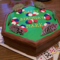 Poker Game Made this cake for DH 50th birthday from inspiration from CC members. Chocolate and WASC with Hershey Chocolate Icing, also from CC members...