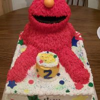 Elmo 2Nd Birthday Thank you to EVERYONE who posted an Elmo cake. Special thanks to foxymomma521, swe3ts, and lilrev for your photos. Bottom is WASC and Elmo...
