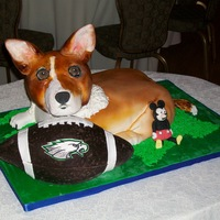 """norman"" The Corgi Cake This is a grooms cake I made for a wedding this July. It was a surprise for the groom, who loves his Corgi named Norman. The groom also..."