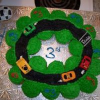Race Track Cupcake Cake Made this for my nephew's 3rd b-day party that was yesterday.. found the idea on here :).. my first cupcake cake.. very proud of it. I...