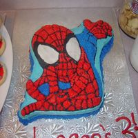 My First Character Cake :) This spiderman cake i made for my son's 3rd b-day yesterday (11.9.05)