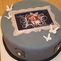 Twilight Cake This was for a friends daughter who loves twilight. The frame and butterflies are gumpaste, the cake and other accents are fondant. I had...