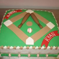 Baseball Field   The cake is covered in fondant with all fondant accents. Thanks for looking.