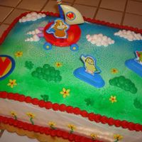 Wonder Pets Cake  Buttercream is not my thing, but a customer requested this cake for her daughters birthday. I had a few issues with the spray painting, but...