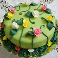 Rose Garden Two days ago it was my birthday. One of my close friends made a cake for me and I made this cake for her birthday that is on the 16th March...