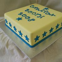 Year 6 Farewell Cake Year 6 farewell cake for my daughters school. 12 inch caramel mud cake covered in yellow fondx and gumpaste lettering with the new fmm...