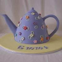 Teapot Cake Caramel mud cake Teapot made in the dolly varden pan. Covered in fondx fondant. Enjoy.