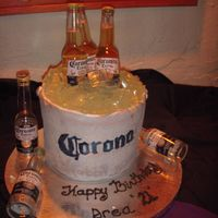Bucket Of Coronas My niece Drea wanted a bucket of Corona cake for her 21st birthday.