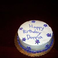 Donna's Birthday This is my cake from the 3rd class of course 1. I made it for my aunt's birthday. We learned the shells and star flowers so I put them...