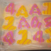 Letters And Numbers Did these cookies modeled after an example done by antonia74. I liked the color combo together.