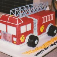Fire Truck Cake My attempt after viewing the wonderful fire engine cakes on this website by cakewizard and others.