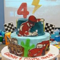 Lightning Mcqueen, Power Rangers Cake