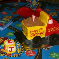 Dump Truck   This was the cake and smash cake I made for my son's 1st birthday.
