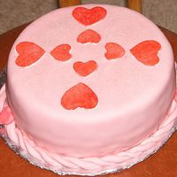 Valentine's Day Cake   This was my first time ever working with fondant, it was fun!