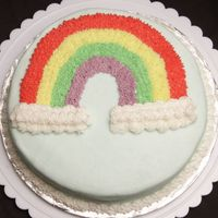Wilton Course I, Rainbow Cake   Here's the rainbow cake I made for Course I, I had fun