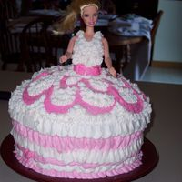 Barbie Cake Cake made for a little girl's birthday.