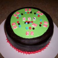 Poker Cake Marble cake with chocolate fondant and fondant decorations.