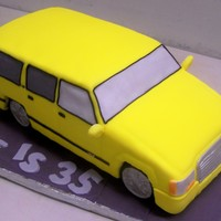 Low Rider   Suburban low rider. all white cake,, tire or RC,