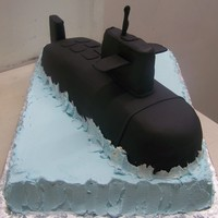 Navy Sailor   Grooms cake for a sub man getting ready to leave.