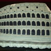 The Roman Coliseum  This is my very first groom's cake order, and boy am I nervous! Birthday parties are one thing - but 200+ people are gonna be looking...