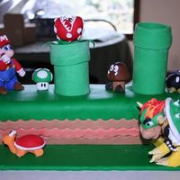 Super Mario!   Super Mario cake for my son's 8th birthday.