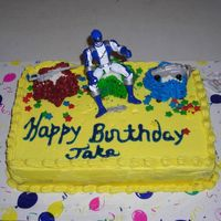 Power Rangers Piped with buttercream frosting