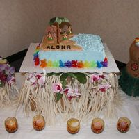 Aloha   This was my first wedding shower cake