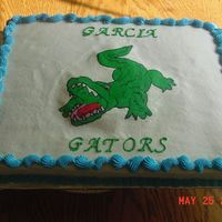 Gator Cake   Made this for my nephew for last day of school. He's moving up to 6th grade.