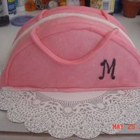 Purse Cake   My attempt at a purse cakeCake is covered with mmf