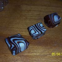 Zebra Cakes marble cake squares covered with dark and white chocolate plastic