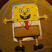 Spongebob Square Pants   I made this for my nephew's 4th bday