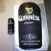 Guinness Cake This is a chocolate cake made with 2 cans of Guinness and covered in fondant.