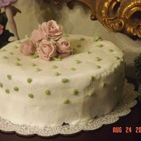 Wilton Class 1 Cake I know the roses need work, but I had alot of fun completing this cake.