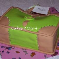 Boss Lady Designs Bag Cake This is a 2 layer purse cake covered in fondant. The studs are silver dragees. The stitching on the leather look panels was created using a...