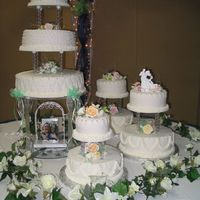 Rolled Fondant Wedding Cake Rolled Fondant with Rasberry mousse filling & apricot glaze.