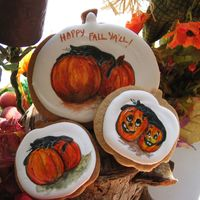 Hand Painted Cookie Hand painted fall cookies.